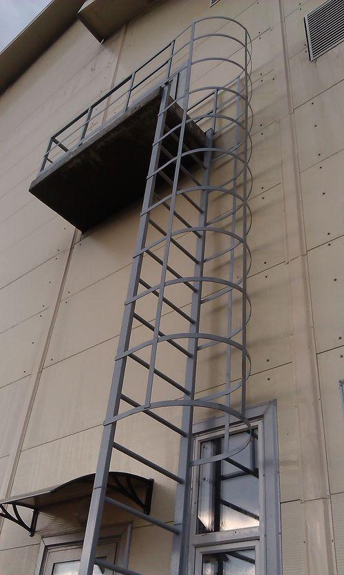 Пожарные лестницы гост размеры чертежи