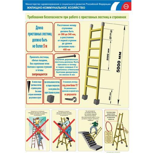 Инструкция по охране труда при работе на лестницах