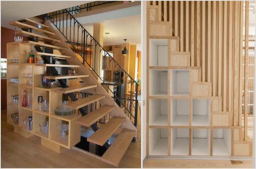 Какие бывают лестницы-стеллажи: особенности и размеры