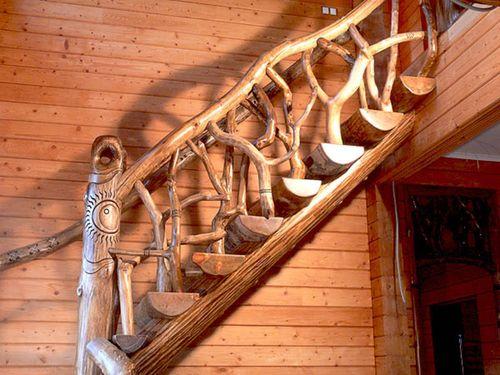 Как сделать лестницу в стиле Рустик своими руками