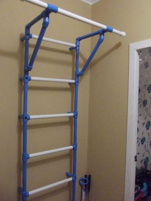 Лестница-турник из труб