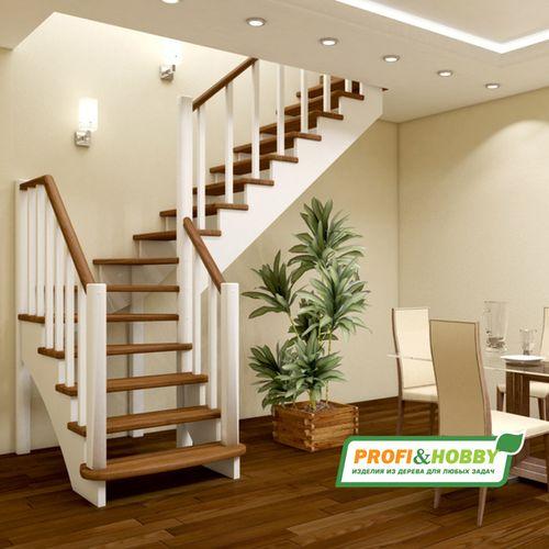 Красивая лестница на 2 этаж