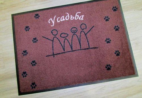 Противоскользящий коврик с логотипом