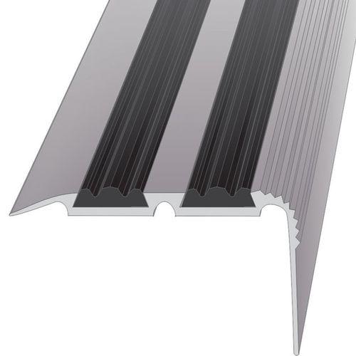Алюминиевый уголок с резиновой вставкой